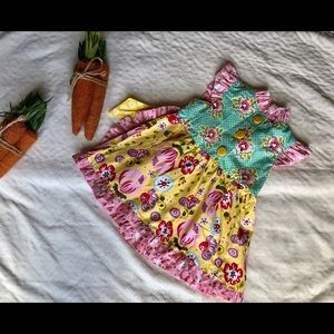 Jelly The Pug Dresses - EUC Jelly the Pug color patch dress!